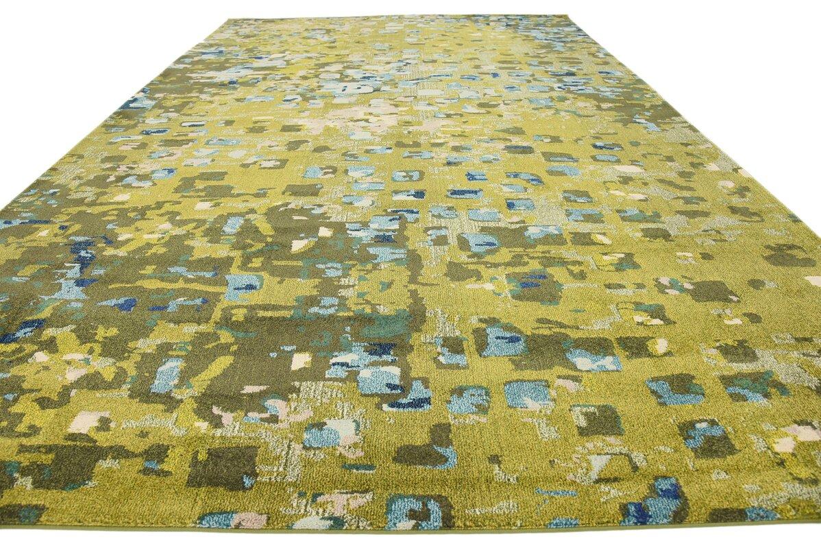 fujii green area rug. bungalow rose fujii green area rug  reviews  wayfair