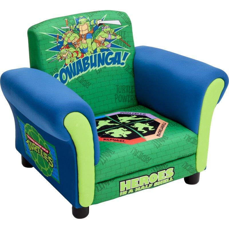 Ninja Turtles Kids Upholstered Club Chair