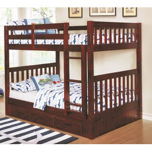 Trumble Full Over Full Bunk Bed with Drawers By Viv + Rae
