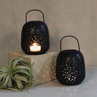 Ceramic Lantern by Bungalow Rose