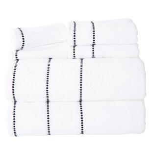 6 Piece 100% Cotton Towel Set