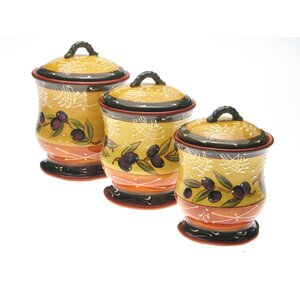 Tanisha 3 Piece Storage Jar Set