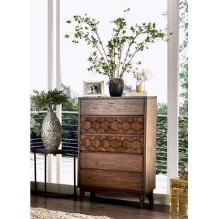 Keefe Transitional 5 Drawer Chest by Bloomsbury Market