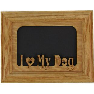 82852199193b I Love My Dog Picture Frame