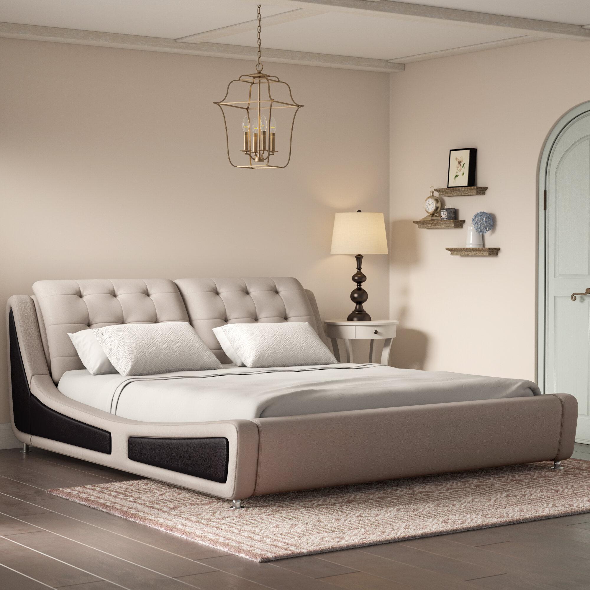 Picture of: Wade Logan Bosworth Upholstered Platform Bed Reviews