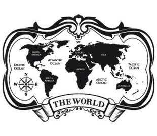 Map Of The World Decal.Large World Map Wall Decal Wayfair Ca