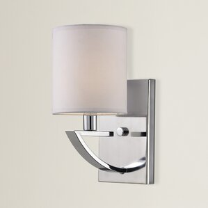 Bathroom Vanity Lights With Fabric Shades fabric bathroom vanity lighting you'll love   wayfair
