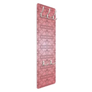 Antique Pink Pattern Wall Mounted Coat Rack By Symple Stuff