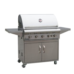 Ardor Stainlesss Steel Cart 5-Burner Built-In Liquid Propane Gas Grill By Landmann