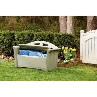 Plastic Storage Bench by Rubbermaid