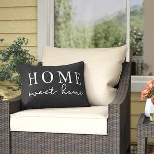 Patchett Home Sweet Home Outdoor Lumbar Pillow