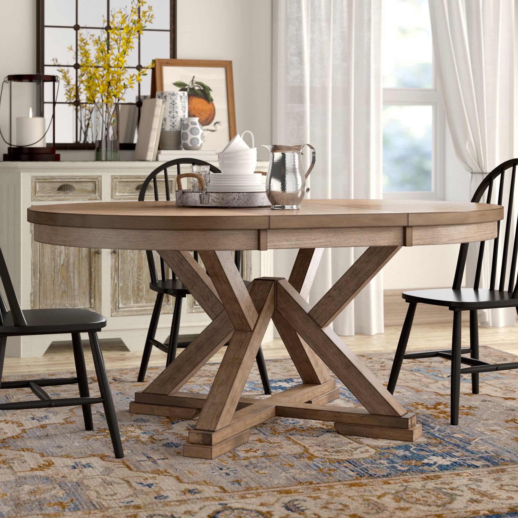 Molena Pedestal Extendable Dining Table & Reviews   Birch Lane