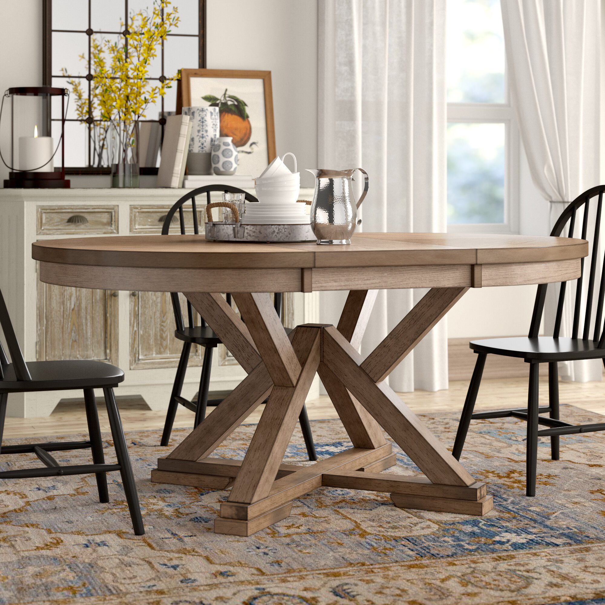 Oaklawn Extendable Dining Table Reviews Birch Lane