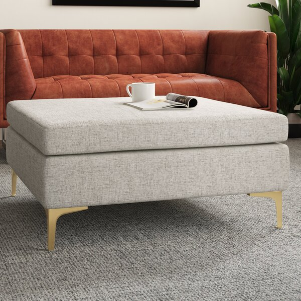 Modern Contemporary Leather Coffee Table Ottoman Allmodern
