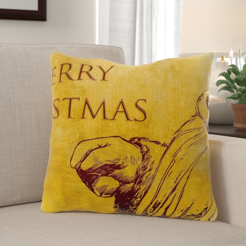 The Holiday Aisle Healdton Christmas Indoor Outdoor Canvas Throw Pillow Wayfair