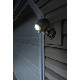 LED Dusk to Dawn Battery Operated Outdoor Security Flood Light with Motion Sensor