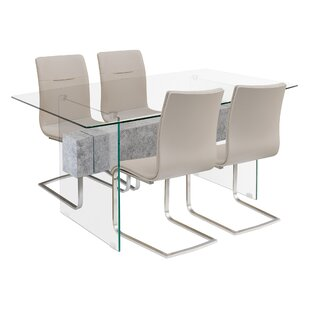 Eve Dining Set With 4 Chairs By Wade Logan