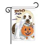 Hayasdan Halloween Boo Doggie Fall 2-Sided Polyester 1 x 1.5 ft Garden Flag