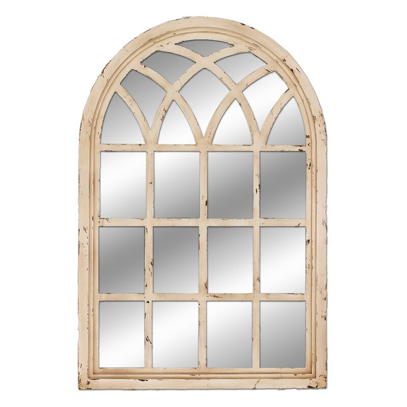 Window Wall Mirror corey arched oversized wall mirror & reviews | joss & main