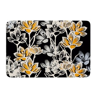 Crocus by Gill Eggleston Bath Mat