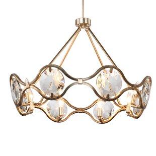 Geil 8-Light Geometric Chandelier by Everly Quinn