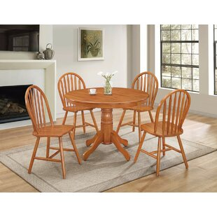 August Grove Hoisington Natural 5 Piece Dining Set