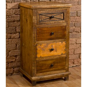 Noble 4 Drawer Cabinet with X Design