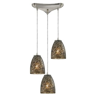 Lucy 3-Light Glass Shade Cluster Pendant by Orren Ellis