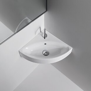 WS Bath Collections Cento Ceramic Ceramic Specialty Wall-Mount Bathroom Sink