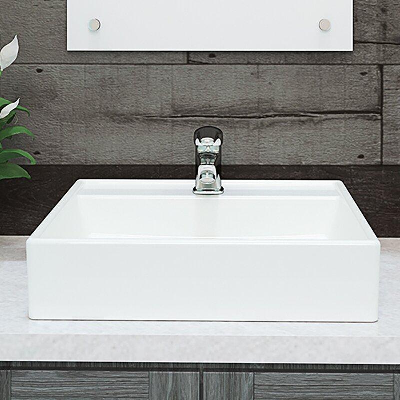 Decolav Classically Redefined Aurelia Ceramic Square Vessel Bathroom Sink Reviews Wayfair