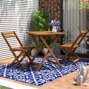 Arianna Hardwood 3 Piece Bistro Set