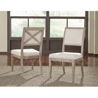 Amina Upholstered Side Chair in White (Set of 2) by One Allium Way SKU:DA608411 Buy