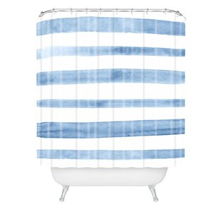 Kelly Haines Stripes Single Shower Curtain