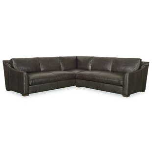 Fisher Leather Corner Sectional by CR Laine
