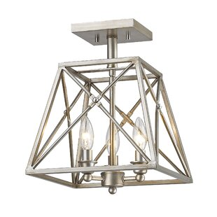 17 Stories Tolya 3-Light Semi Flush Mount