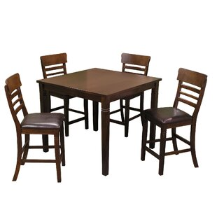 Grothe 5 Piece Counter Height Dining Set ..