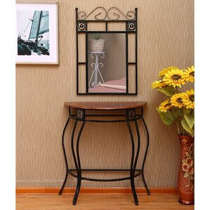 Dunlap Console Table And Mirror Set