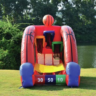 JumpOrange Inflatable Basketball Game Bounce House