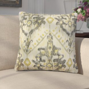 Geremia Ikat Linen Throw Pillow (Set Of 2) by Darby Home Co Savings
