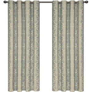 Kaison Damask Blackout Grommet Single Curtain Panel