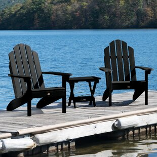 Highpoint Plastic Folding Adirondack Chair Set with Table by Alcott Hill