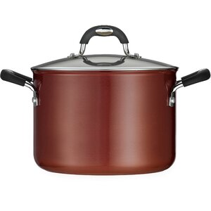 Style Ceramica 6-qt. Stock Pot with Lid