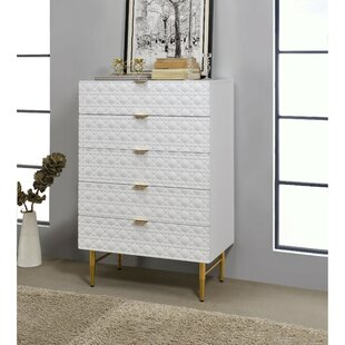 Camilo Wooden 5 Drawer Chest by Everly Quinn Sale