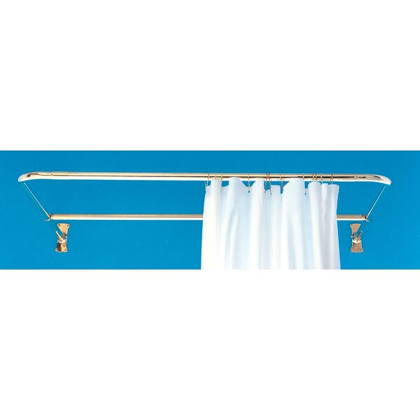 Strom Plumbing By Sign Of The Crab Supercoat 72 D Shaped Fixed Shower Curtain Rod Wayfair