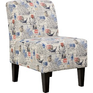 Winston Porter Astoria Slipper Chair in Beige by Simmons Upholstery