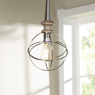 Brockton 1-Light Globe Pendant by Williston Forge
