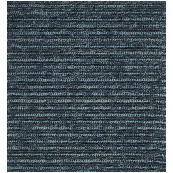 Makhi Hand Knotted Dark Blue Area Rug