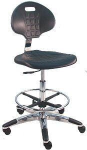 Eco-Friendly Cleanroom Lab Drafting Chair With Lumbar Support by Symple Stuff Read Reviews