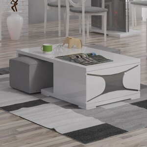 Ravenne Coffee Table With Nested Stools