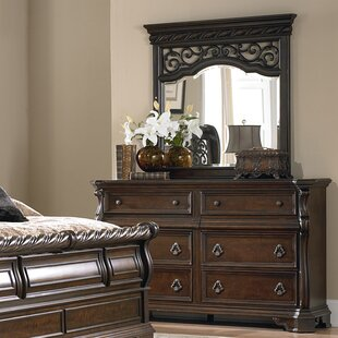 Best Choices Kate 6 Drawer Double Dresser with Mirror ByAstoria Grand